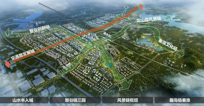 △ 溧水区高铁新城规划图