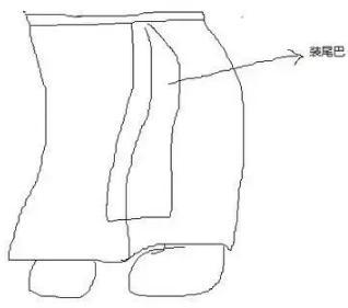 塞裤子简笔画步骤图