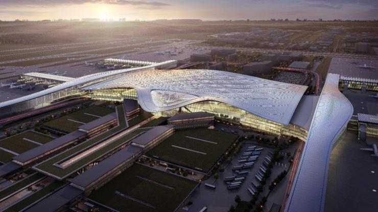 杭州机场_杭州萧山机场三期效果图 来源于空港管委会
