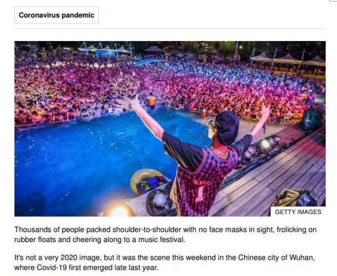 玛雅海滩一场派对火上国外热搜 武汉快速恢复正常令世界惊叹