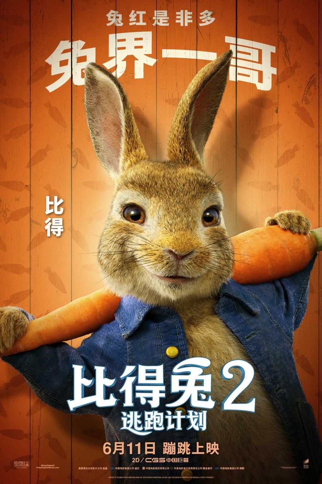 治愈不开心!《比得兔2:逃跑计划》萌兔天团登场笑点多